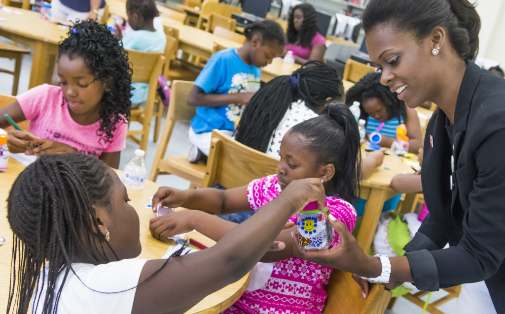 """The Overtown Youth Center presented the 6th Annual Jewel Summit 2016 with guest speaker Tragil Wade (Dwyane Wade's sister) at Jose De Diego Middle School in Miami on May 21st , 2016. The Jewel Summit also featured a Zumba workout by Suyumi Quiroz, A Girls Empowerment Session """"Knowing your self worth,"""" A Womens' Empowerment Panel, """"Being a Visionary for the Family,"""" Art of a Jewel, Ice Cream Social and Close out. (Photo by MagicalPhotos.com / Mitchell Zachs)"""